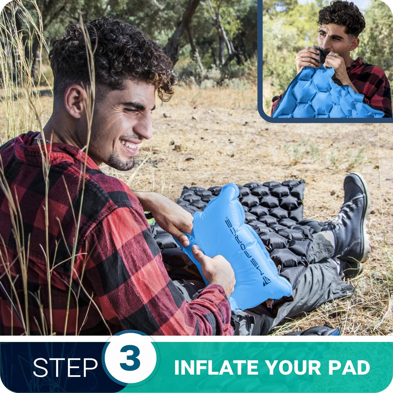 Amazon.com: MsForce - Colchón hinchable para acampada y ...