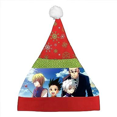 Amazon.com: Wvese Hunter Anime Custom Santa Hat Great For Christmas ...