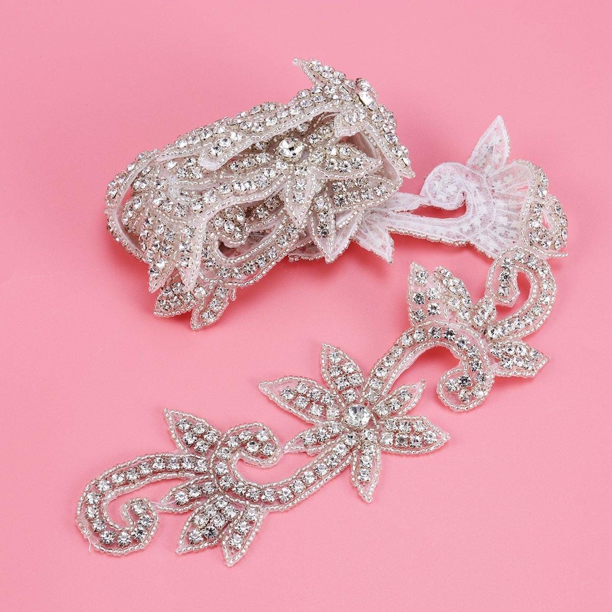 Cinturón con apliques de diamantes de imitación y cristal de ...