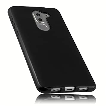 mumbi Funda Compatible con Honor 6X Caja del teléfono móvil, Negro ...
