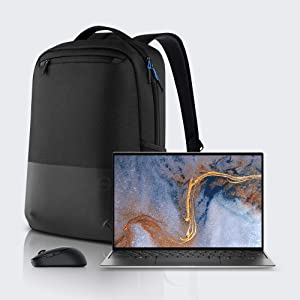 Dell XPS 13 9310 13.4 inch FHD+ Touch Laptop, with MS5120W Wireless Computer Mouse and Dell Pro Slim Backpack (Intel Core i7-1185G7, 16GB 4267MHz LPDDR4x RAM, 512GB SSD – Window 10 Pro) – Silver