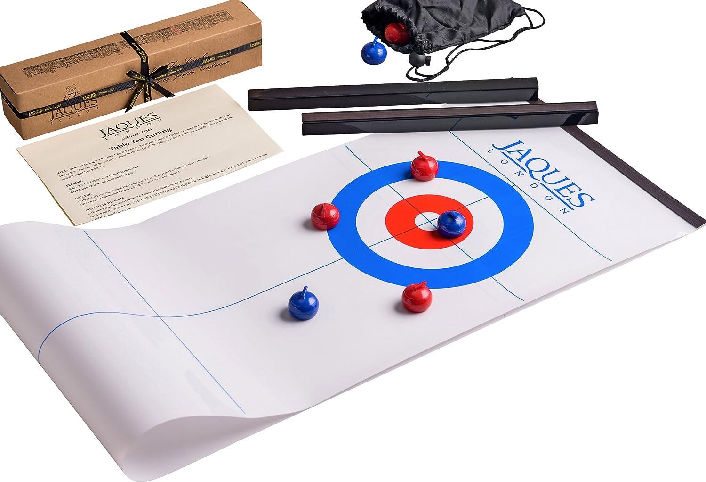 Jaques of London ***EINFÜHRUNGSANGEBOT KLASK Table Top Curling - Große Spiele crokinole für Jungen und Mädchen - So schnell wie Air Hockey - Hochwertige Tisch- und Brettspiele seit 1795