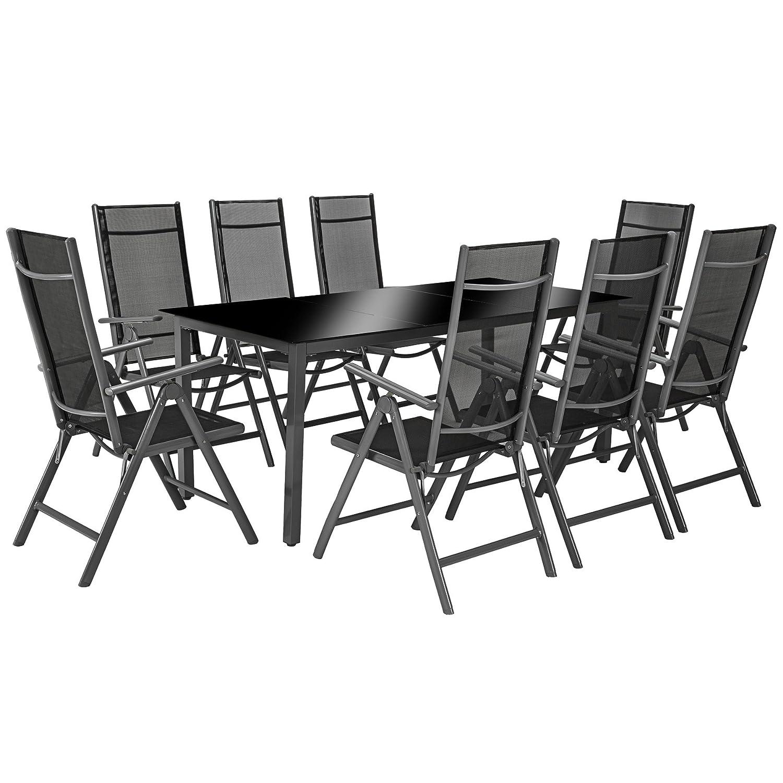 Amazon.de: TecTake Aluminium Sitzgarnitur 8+1 Sitzgruppe ...