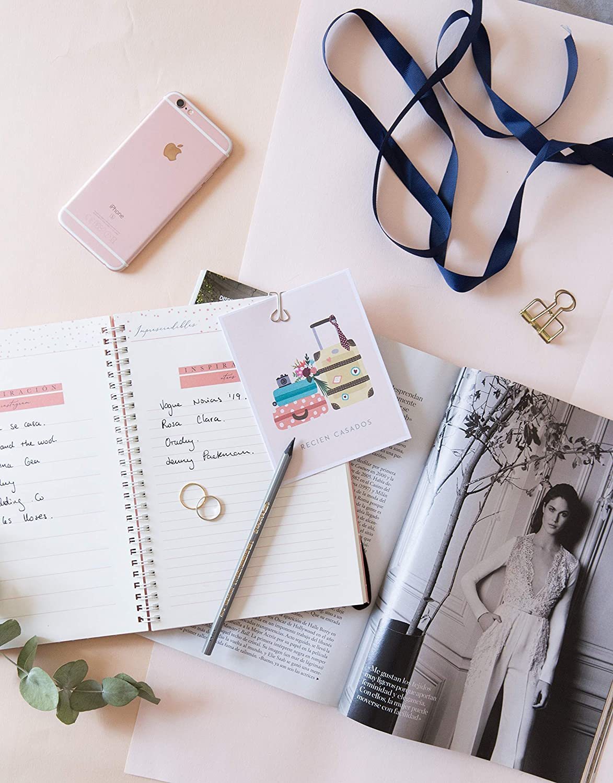 Fisura - LeBlue LBPW0011 La Agenda de Nuestra Boda. Planificador Organizador para bodas, Color Rosa Salmón. Primera agenda de bodas de España, Wedding ...