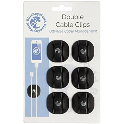 Cubicle Self Adhesive Cord Organizer Cable Management Wire Holder System for Organizing Cable Cords 5 Pack Office Syncwire Cable Clips Desk Accessories Ideal for Home Black Car Nightstand