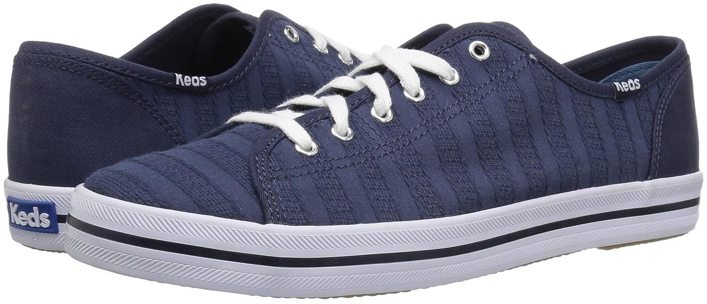 Keds Women's Kickstart Eyelet Stripe Sneaker B072Y7TCTV 8.5 B(M) US|Navy
