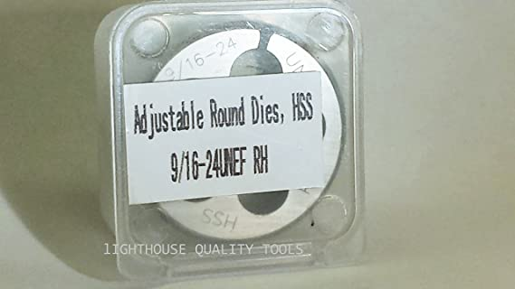 Amazon.com : Lighthouse quality tools - 9/16-24 RH HSS Adjustable round threading Die : Sports & Outdoors
