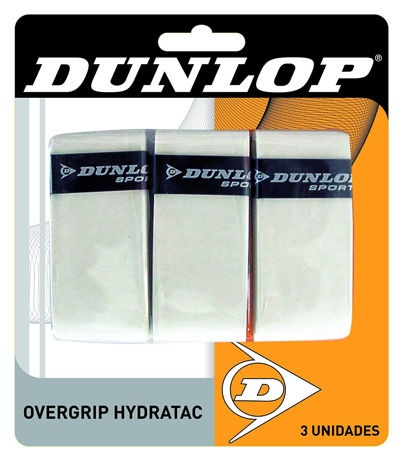 Overgrip Dunlop Hydratac Blanco Pack-3: Amazon.es: Deportes y aire ...