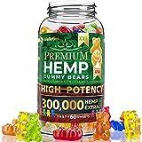 Hemp Gummies Premium XXL 300,000 High Potency - Fruity Gummy Bear with Hemp Oil | Natural Hemp Candy Supplements for Pain, Anxiety, Stress & Inflammation Relief | Promotes Sleep & Calm Mooв