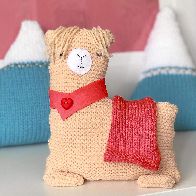 No Drama Llama Knitting Kit- Christmas Colours