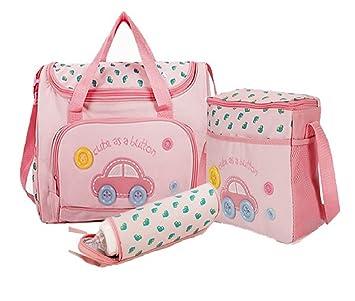 Buy Baby Bucket Baby Diaper Nappy Changing Baby Diaper Bag Baby Bag Mummy  Bag Handbag (4pcs Set Dark Pink) Online at Low Prices in India - Amazon.in 689b87dbdc1ad