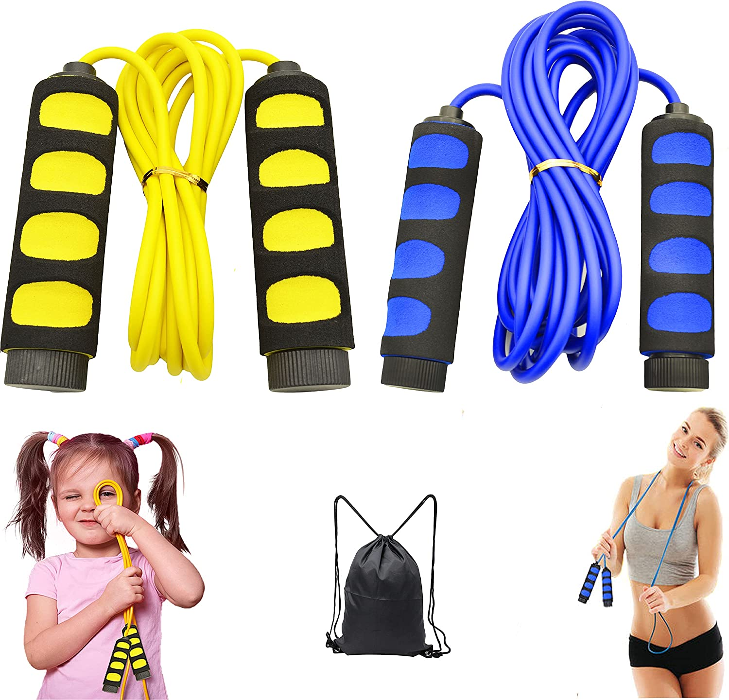 Plastic Sport Skipping Speed Jump Rope Weighted Adjustable Cardio Fitness Kids N