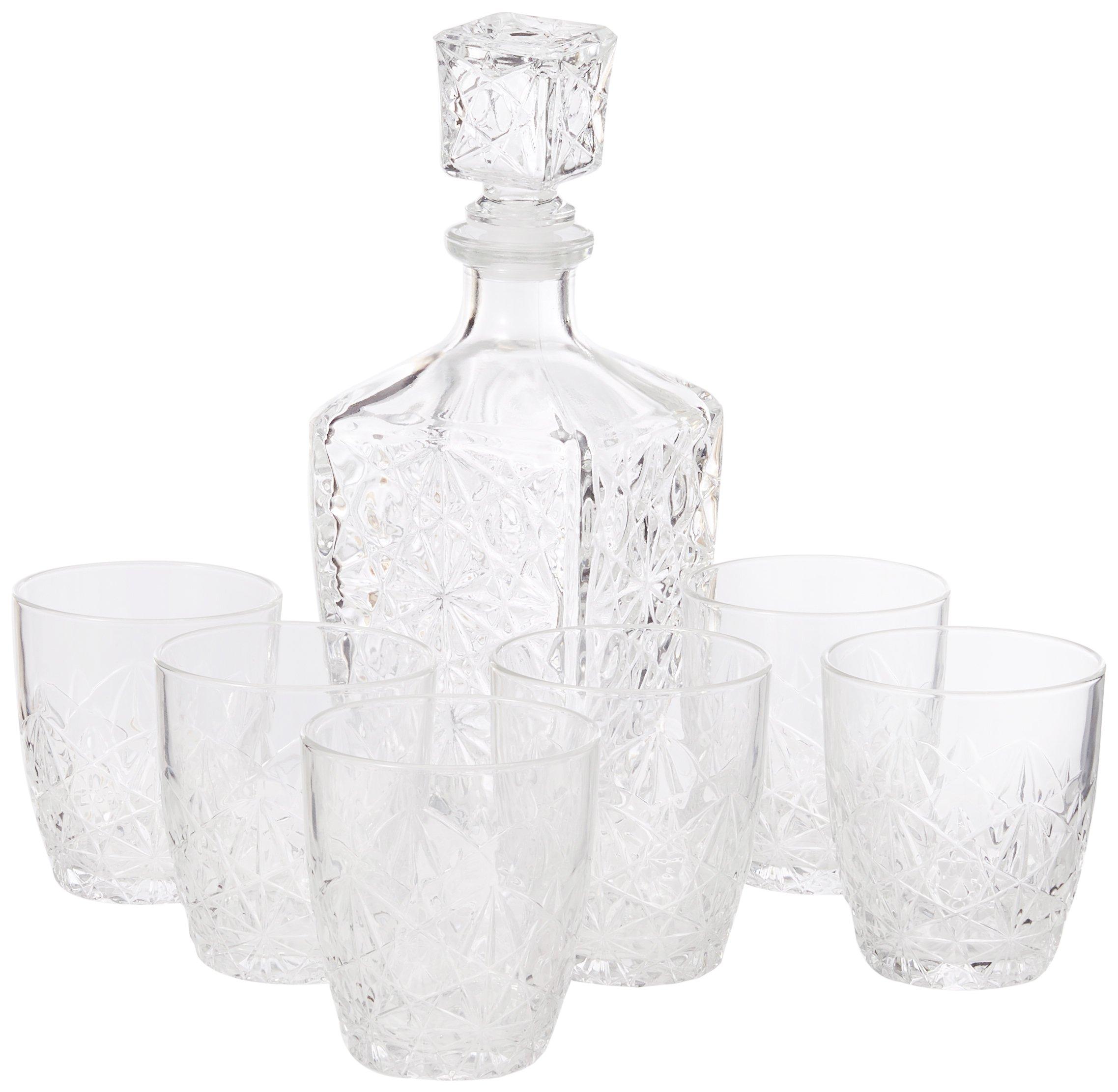Bormioli Rocco Dedalo Glass Decanter 800ml 6 Glasses 260ml