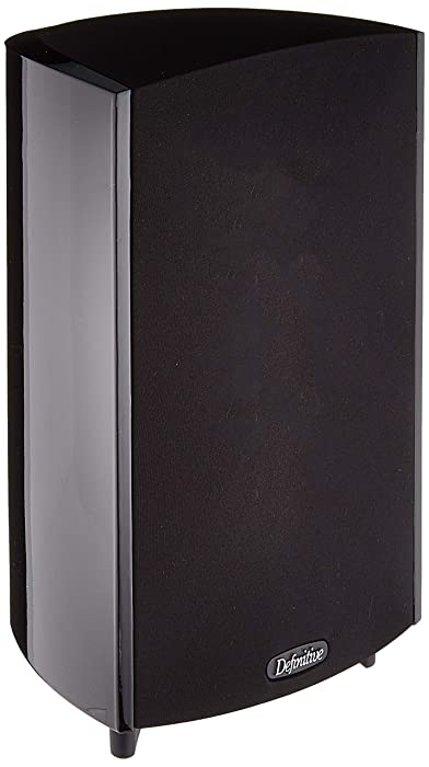Definitive Technology ProMonitor 1000-2-Way Satellite or Bookshelf Speaker for Home Theater System | Dolby Surround Sound, Powerful Bass, on Par with Any Large Speaker (Single, Black)