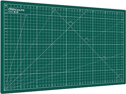 /gradu/é en CM planche de d/écoupe pour couture,patchwork,cutter rotatif Tapis de d/écoupe auto-cicatrisant GRIS 60x45cm A2 surface matte antid/érapante