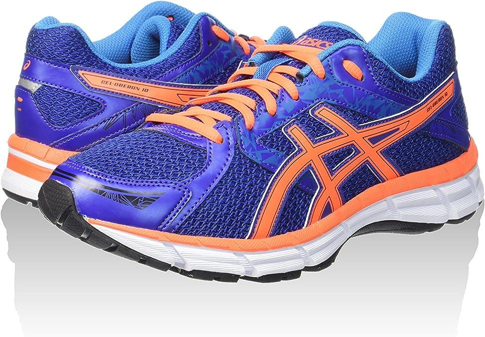 Asics Zapatillas Gel-Oberon 10 Azul Índigo/Naranja EU 39.5 (US 6H): Amazon.es: Zapatos y complementos