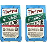Bob's Red Mill Organic Unbleached White Flour, All Purpose, 160 oz (5 lb x 2)