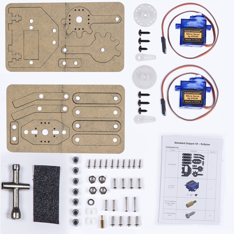 SunFounder Standard Gripper Kit Paw for Robotic Arm Rollarm DIY Robot Arduino Uno Mega 2560 Nano by SunFounder (Image #6)