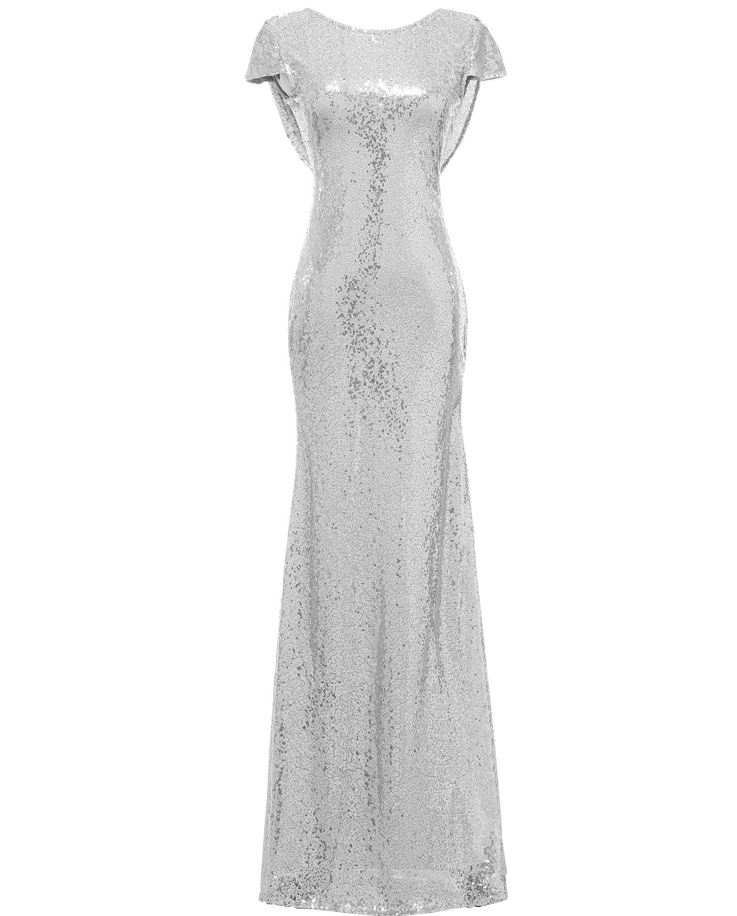 Silver Sequin Bridesmaid Dress: Amazon.com
