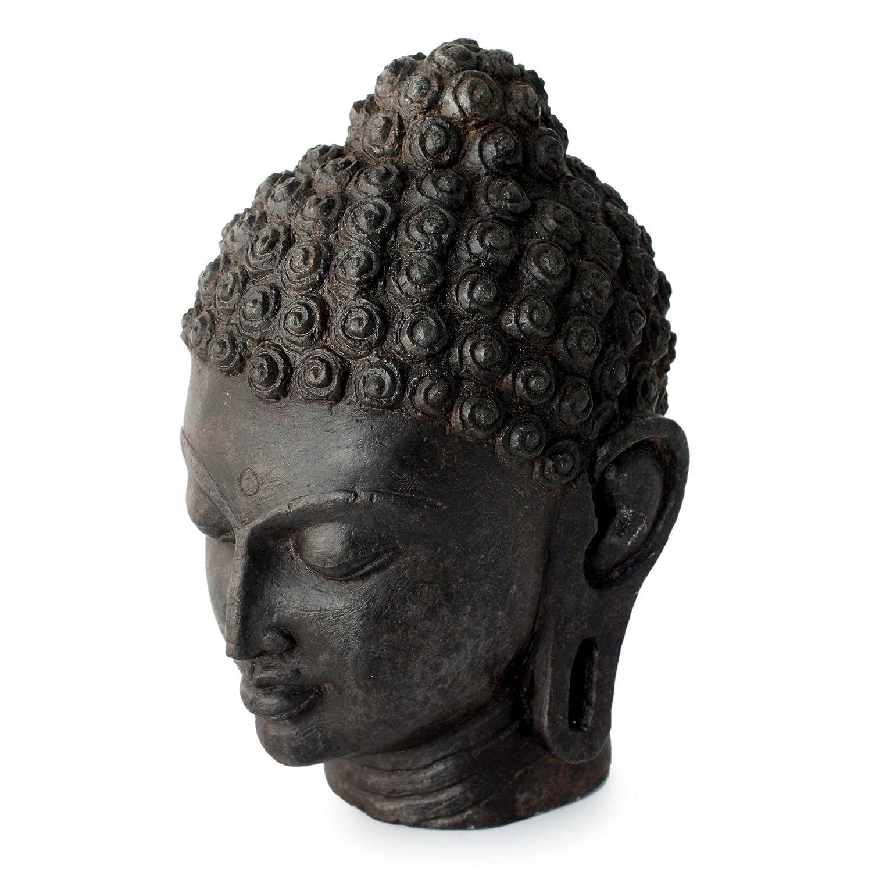 NOVICA 137621 Buddhas Peaceful Presence Granite Sculpture