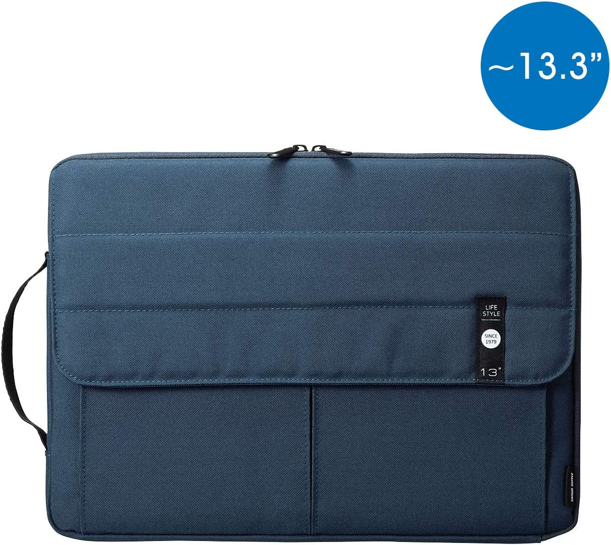 SANWA (Japan Brand) Laptop Computer Sleeve Case, Sleeve Bag Compatible with 11 inch MacBook Pro, MacBook Air, Pad,HP, Dell, Notebook Computer, Water Resistance Case Cover with Pocket, Navy