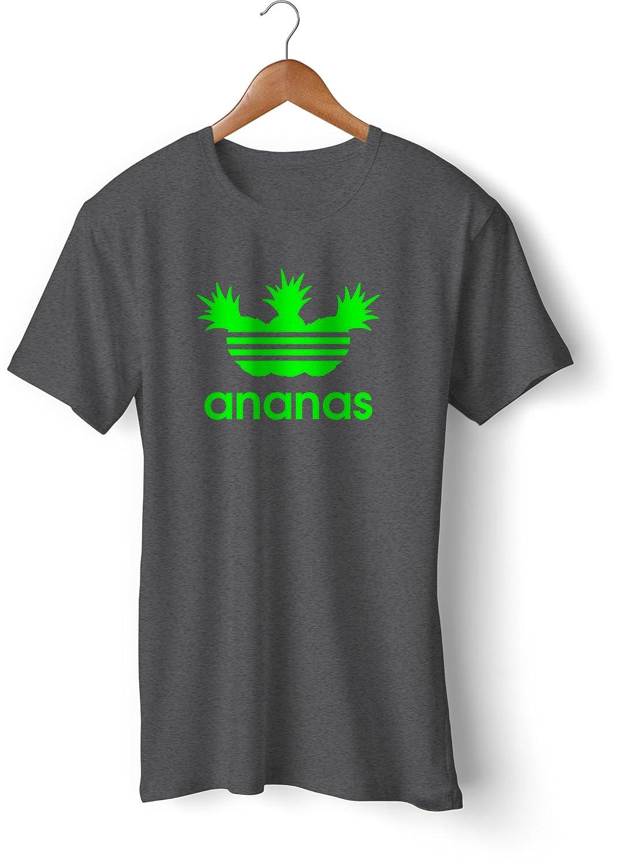 Fashion T-Shirt bedruckt, 190g mit Seitennaht, Fun Druck ananas: Amazon.de:  Bekleidung