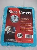 Disposable Polypropylene Shoe Covers, L, 100-Pack DSC100 Blue