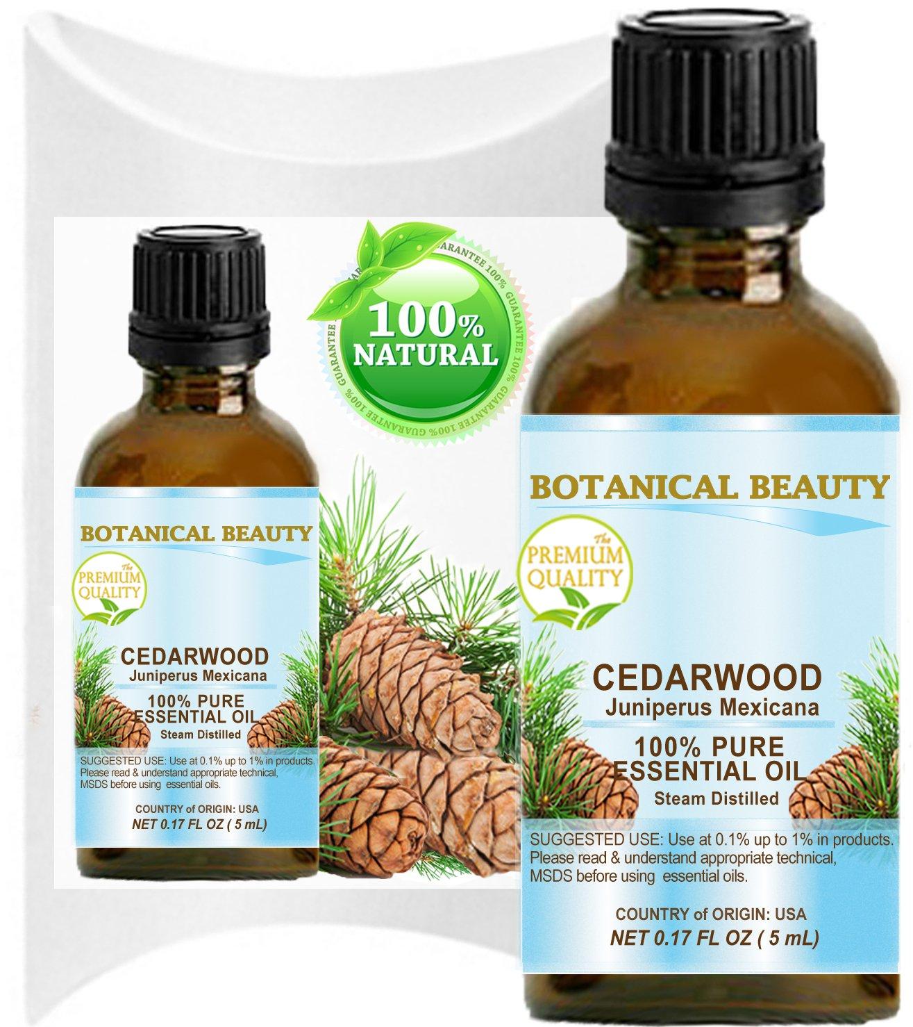 CEDARWOOD ESSENTIAL OIL. 100% Pure Therapeutic Grade, Premium Quality, Undiluted. 0.17 Fl.oz.- 5 ml. (0.17 Fl.oz- 5 ml.)