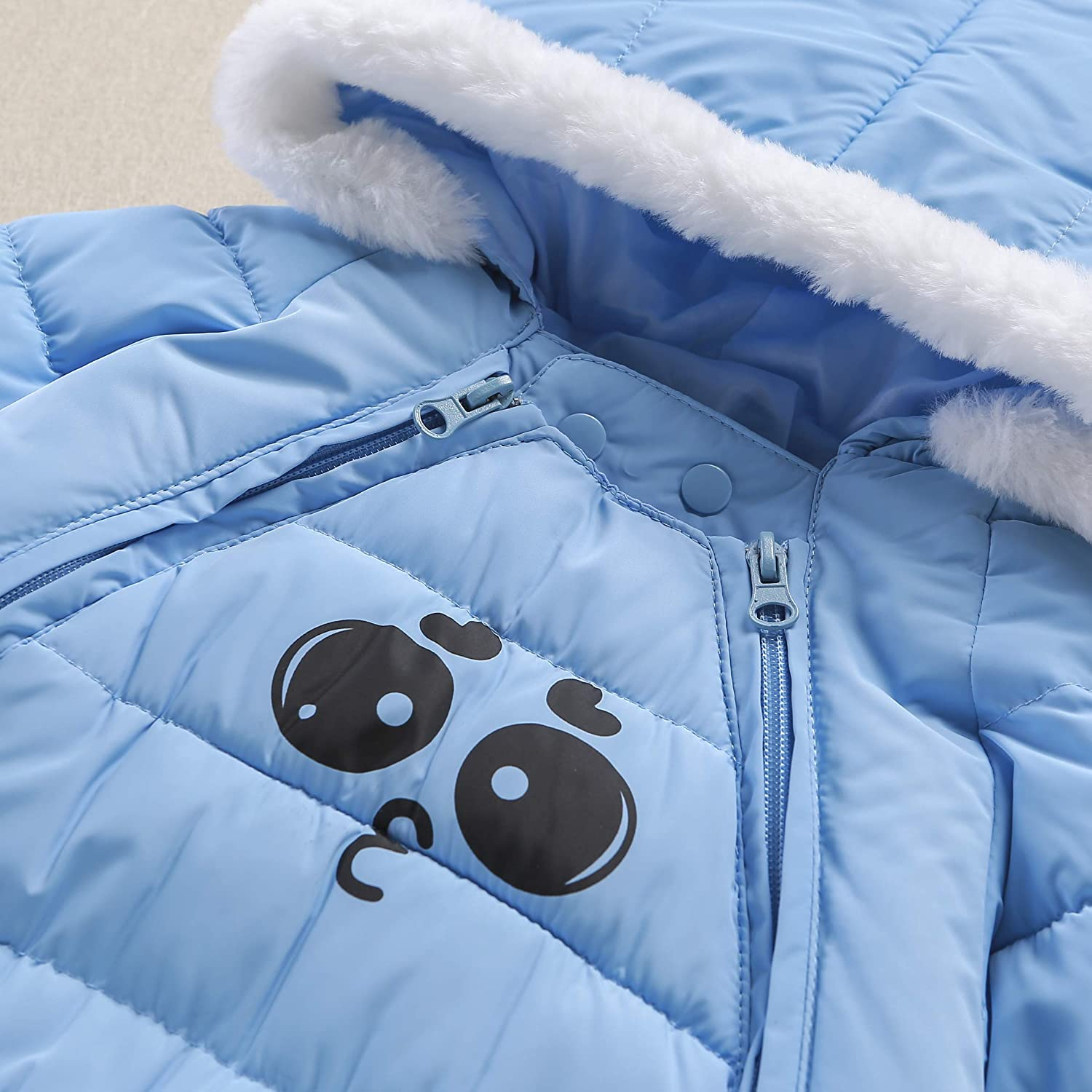 Mumuzhu Baby Toddler Girls Boys Down Snow Suit Winter Thick Romper Jumpsuit 0-2Y
