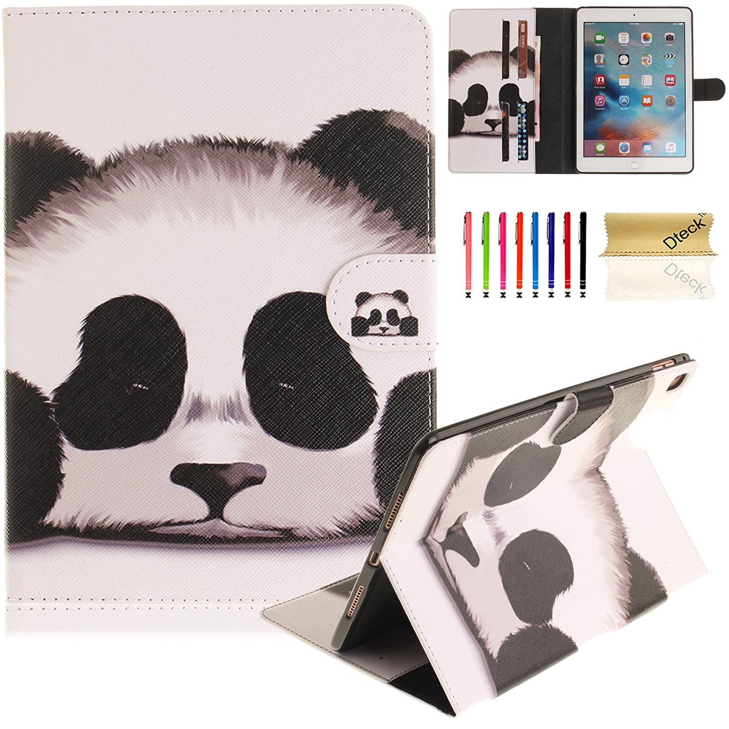 iPad Pro 9.7 2016 Case, A1673 /A1674 /A1675 Case, Dteck Cute Cartoon Flip Smart Stand Case with [Stylus Pencil] PU Leather Magnetic Wallet Cover for Apple iPad Pro 9.7 Inch(Beach Sand) iPadPro9.7-DK-0822