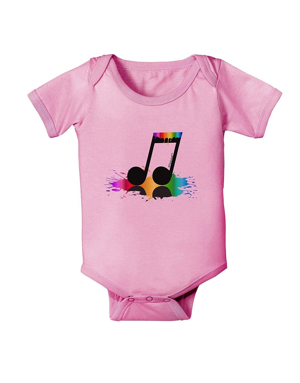 TooLoud Paint Music Note Baby Romper Bodysuit