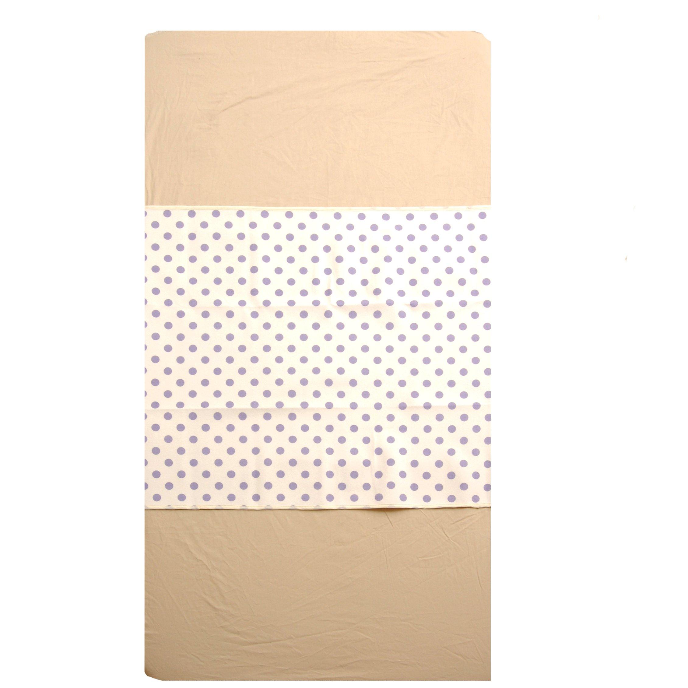 WatariYoshimi woolen waterproof sheeting dot (purple) half-size 90 ~ 140cm