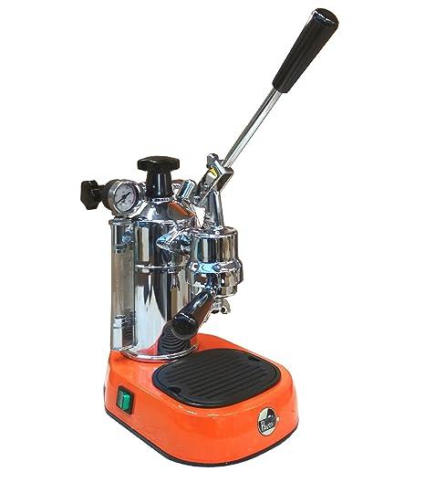 La Pavoni Professional par aranico mano palanca máquina, máquina de café espresso, color naranja