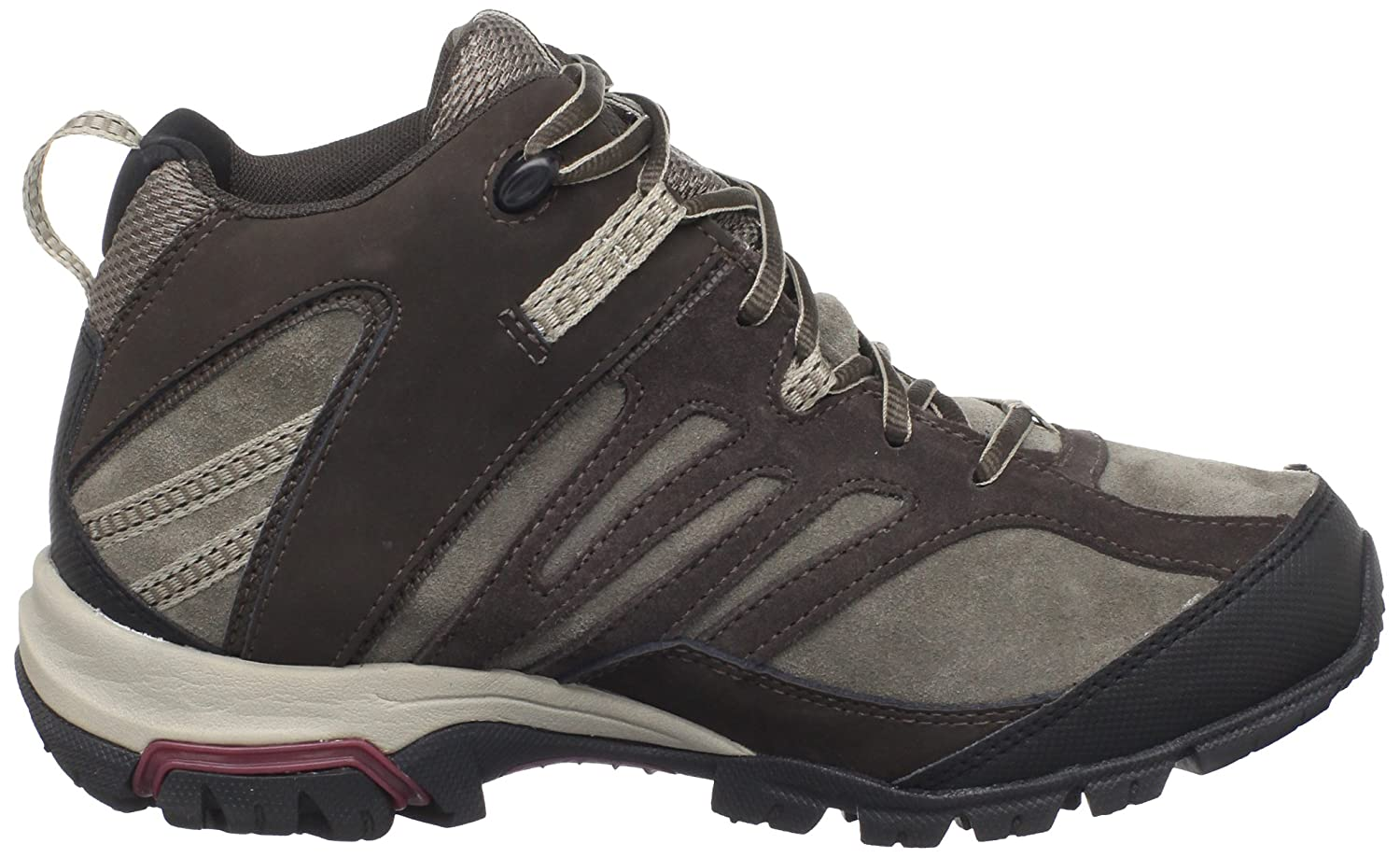 Amazon.com | Columbia Womens Shasta Ridge Mid Omni-Tech Lea Trail Shoe, Bungee Cord/ Plum Wine, 5 M US | Hiking Shoes