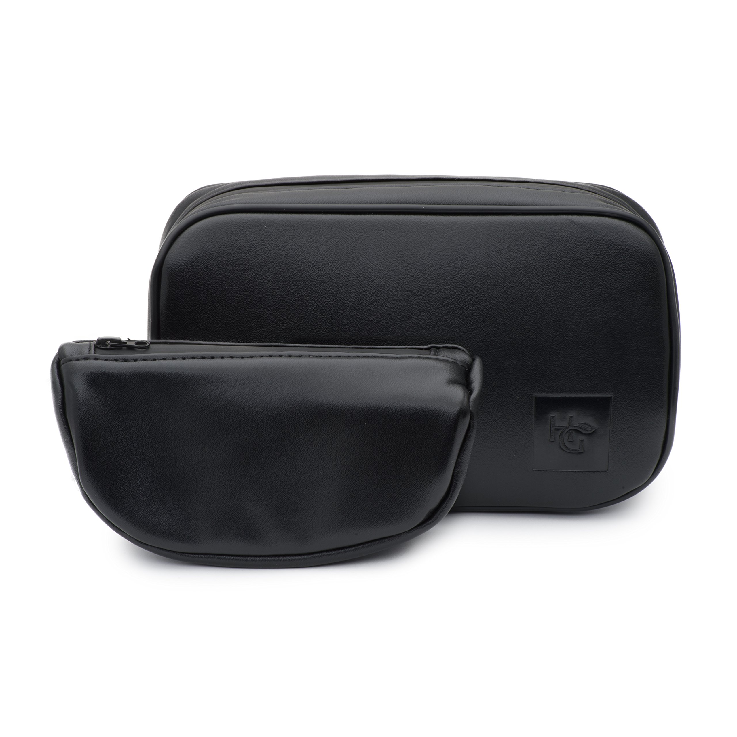 Smell Proof Leather Pipe Case by Herb Guard - Bag Comes with Smell Proof Leather Travel Pouch, Fits 2 Pipes and Accessories