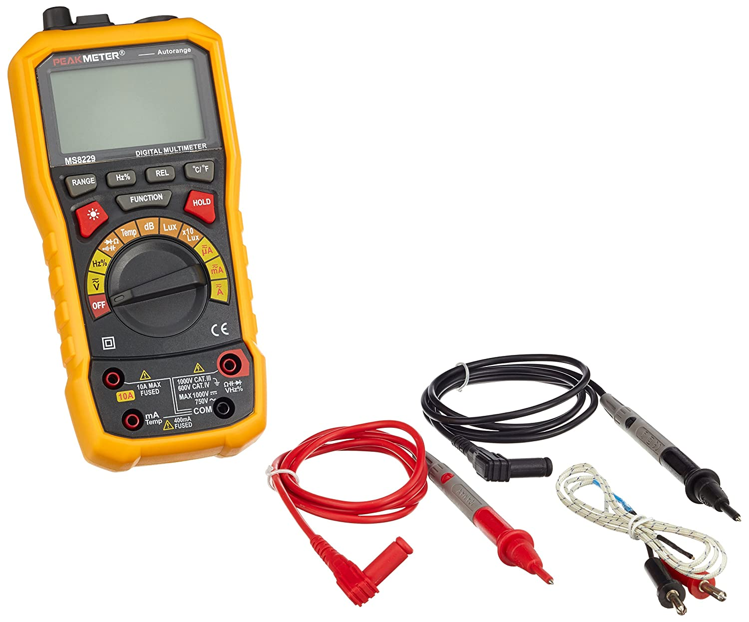 HYELEC MS8229 Multifunktions-Digital-Multimeter, DC/AC Spannung Strom Tester