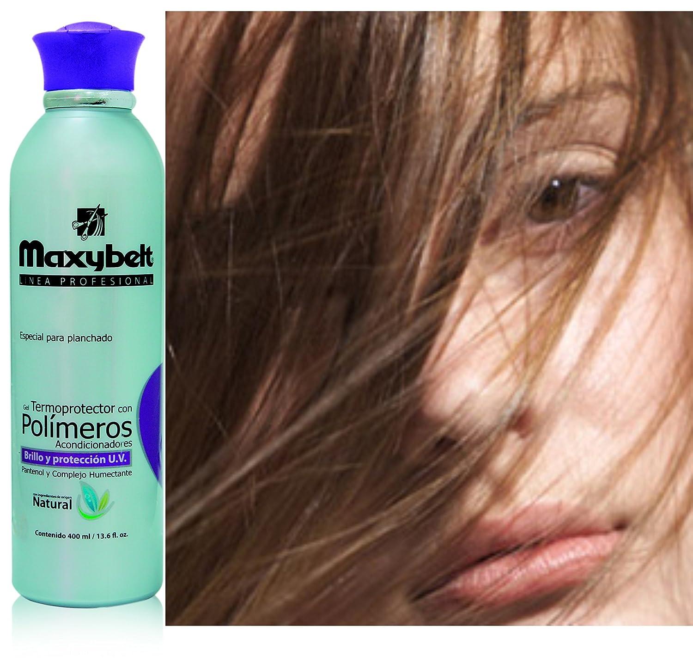 Amazon.com : Maxybelt- Gel polimeros termo protector ideal para usar con plancha o secador 13.6 oz (13.6 Fl Oz.) : Beauty