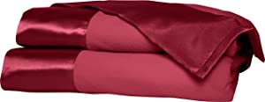 Shavel All Seasons Year Round Sheet Blanket with Satin Hem, King, Wine