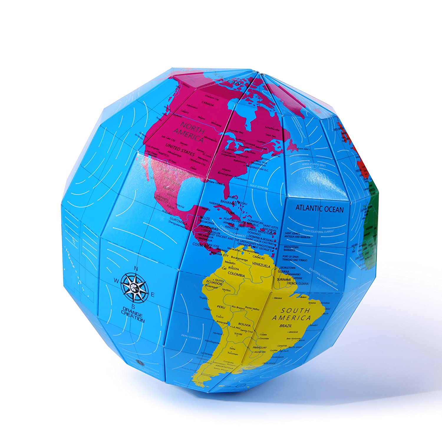 Spherical World Map.Buy 3d Globe Puzzle Earth World Map Geology Sciences Education