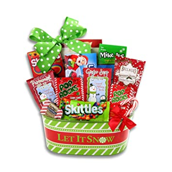 Amazon.com : Celebrate the Season Candy Gift Basket   Kids Christmas ...