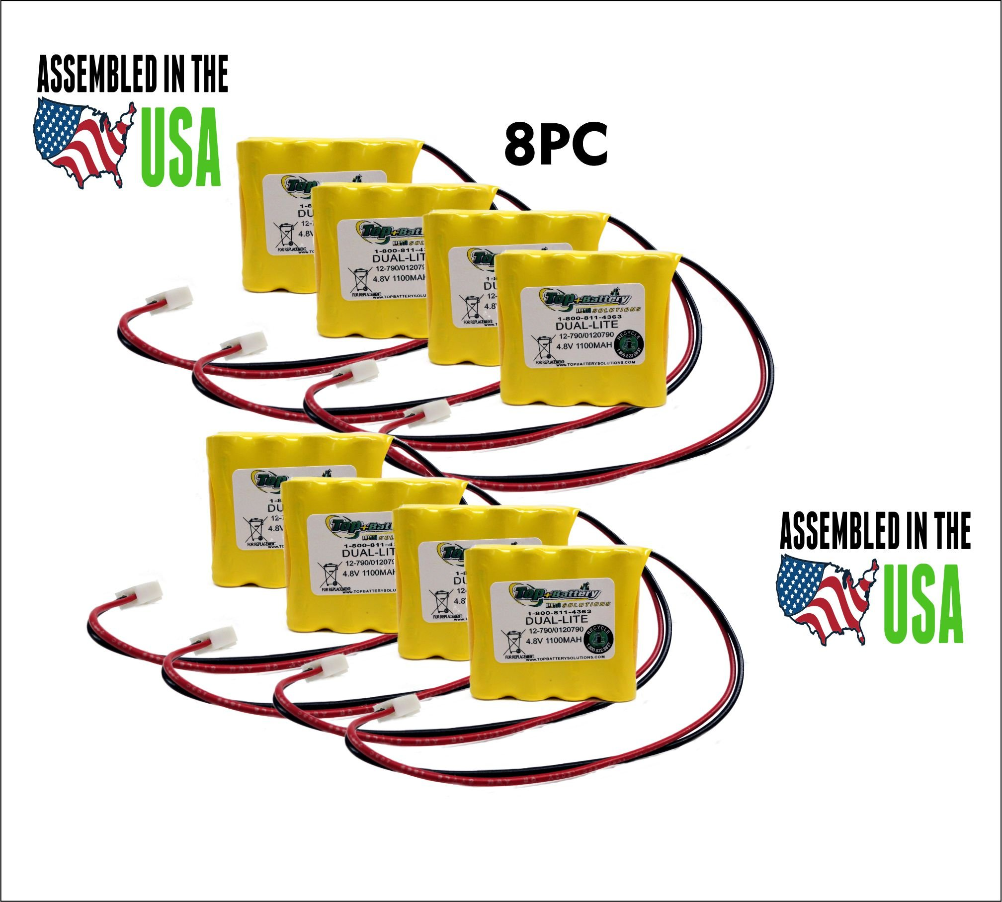 8PC DualLite 12-790, 0120790, 0120790 REV. A, 0120790 REV. B