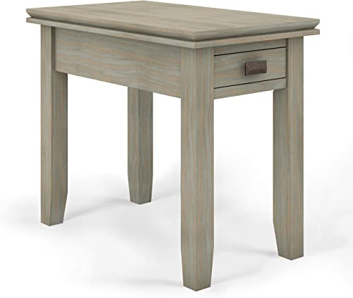 SIMPLIHOME Artisan SOLID WOOD 14 inch Wide Rectangle Contemporary Narrow Side Table