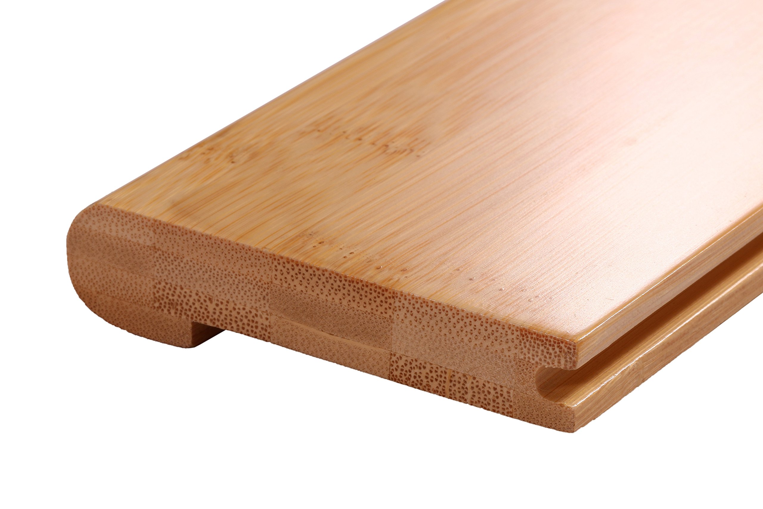 AMERIQUE Pre-Finished Solid Horizontal Natural Bamboo Stair Nose, 72'' L x 3-1/2'' W x 3/4'' H