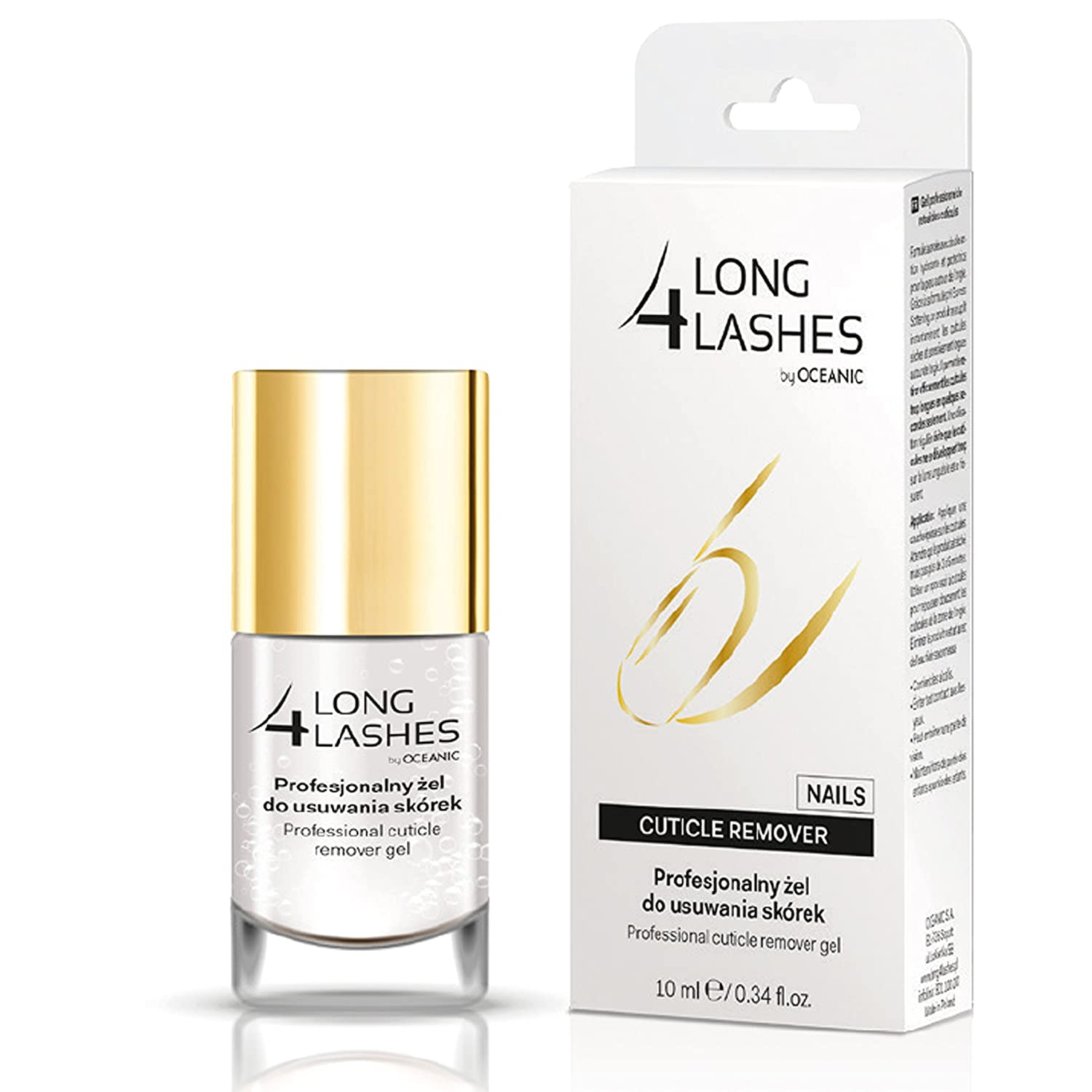 LONG4LASHES NAILS Cuticle Remover - Solvente professionale per cuticole, 10 ml AA Cosmetic