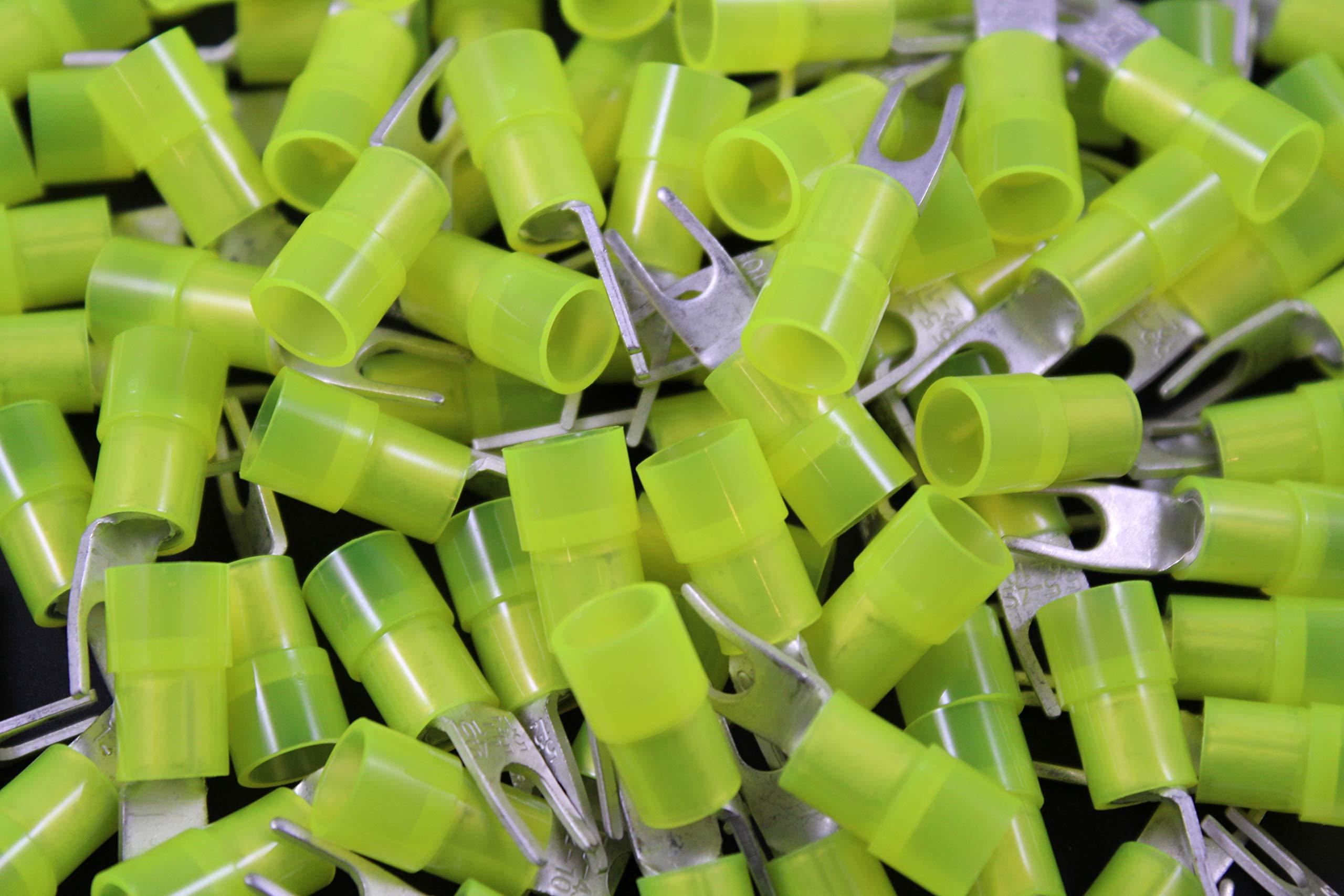 10-12 Gauge Nylon Spade # 8 Connector 500 PK Crimp Terminal AWG Electrical