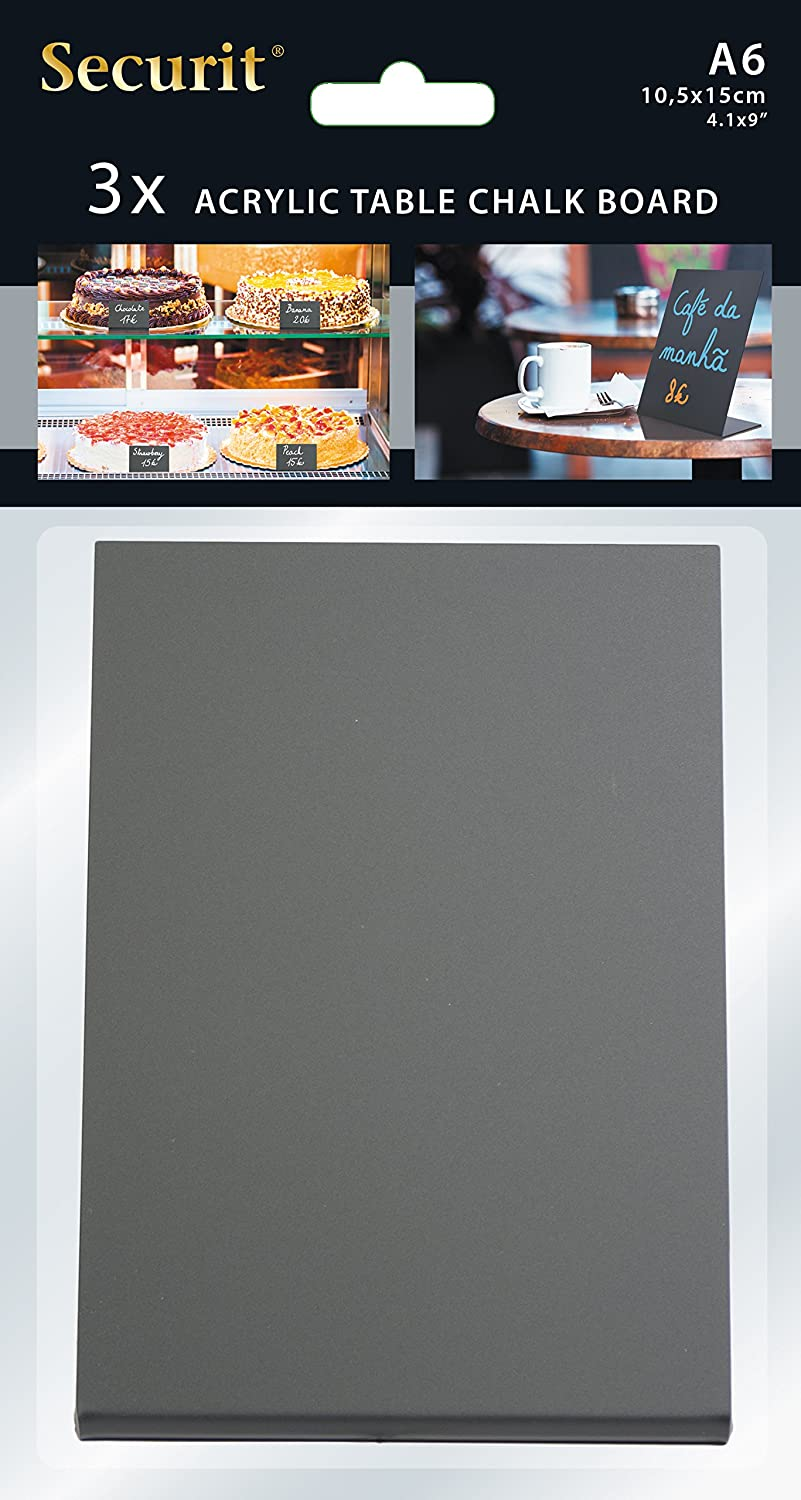 5-7//8 H American Metalcraft TBABLA6 Table Top Chalkboard