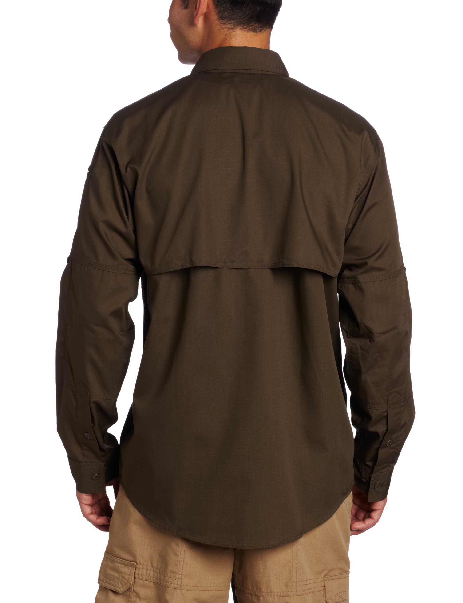 5.11 Tactical TacLite Professional Long Sleeve Shirt, Tundra, Large by 5.11 (Image #2)