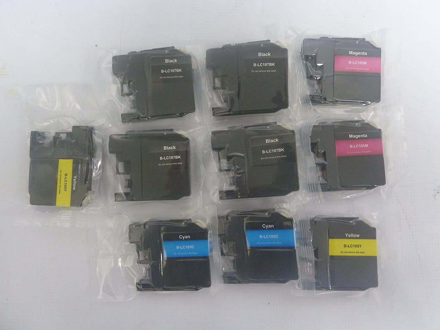 Compatible With Brother MFCJ470DW MFCJ475DW MFCJ650DW MFCJ870DW MFCJ875DW Compatible With Brother LC101 LC103 10-Pack Compatible Ink Cartridge 4K//2C//2M//2Y