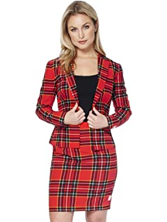 a081776f82a OppoSuits Christmas Suits for Women in Different Prints - Ugly Xmas Sweater  Costumes Include Blazer and