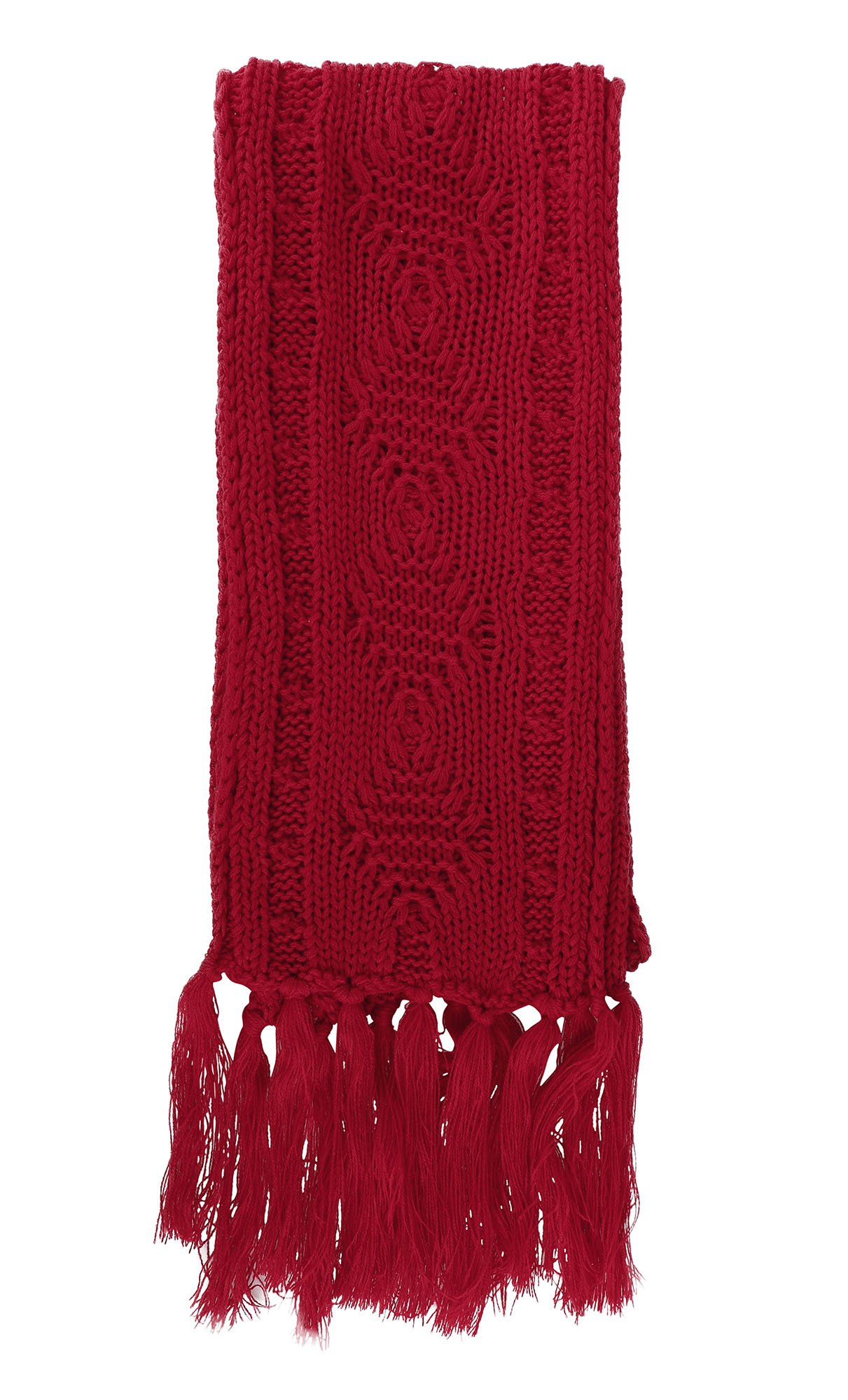 ANDORRA - 3 in 1 - Soft Warm Thick Cable Hat Scarf & Gloves Winter Set, Red by Andorra (Image #6)